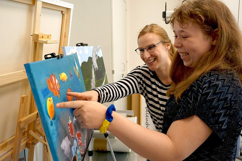 Eröffnung der Kunsträume der SRH Stephen-Hawking-Schule